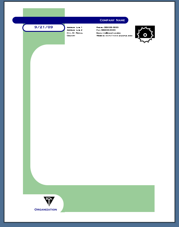 Using Shapes to Create Your Letterhead
