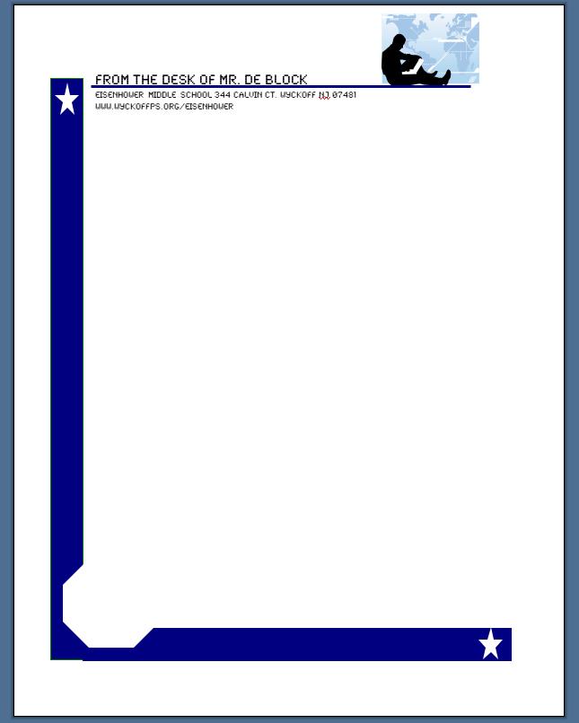 computer 6 1 eisenhower middle school sample letterhead